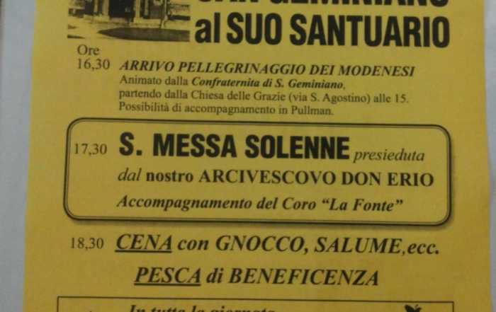 Solennità San Geminiano al suo Santuario 2016
