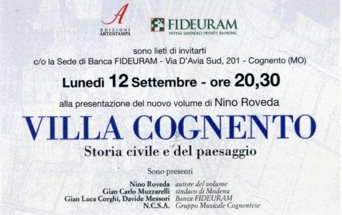 Villa Cognento 2016 - 3° volume