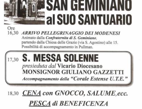 Solennità di San Geminiano al suo Santuario