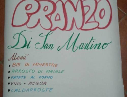 Domenica 12 Novembre Pranzo di San Martino