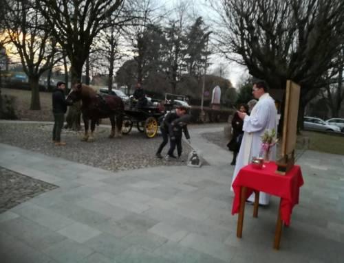 Benedizione degli animali in occasione della festa di San Antonio