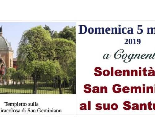 Domenica 5 Maggio 2019- Solennità di San Geminiano al suo Santuario