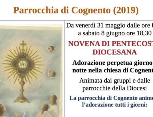 Novena di Pentecoste Diocesana 2019