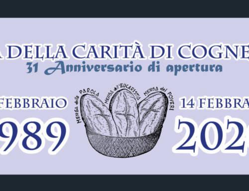 14 Febbraio 2020 – Anniversario Casa della Carità